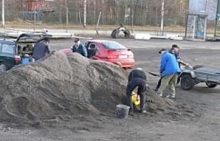 İsveç'te belediye bedava kum dağıttı
