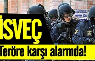 İsveç, bombalı terör saldırılarına karşı...
