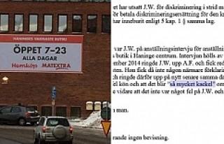 İsveç'de kadın işçi çalıştırmayan markete...