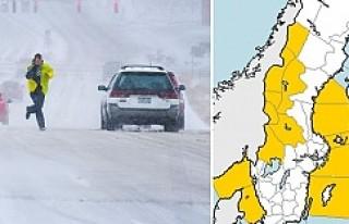 İsveç'e Kar Geliyor...