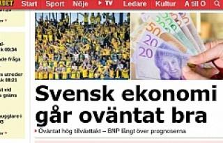 İsveç Ekonomisi Eski Günlerine Dönüyor