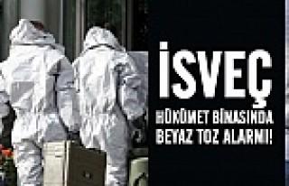 İsveç Hükümet binasında beyaz toz alarmı!
