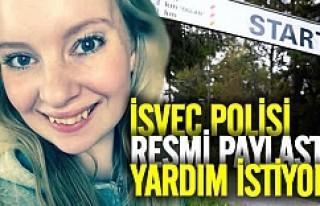İsveç polisi bu kız için yardım istiyor