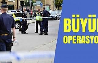 İsveç polisi büyük operasyon yapıyor!