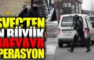 İsveç polisinden en büyük mafyaya operasyon