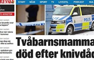 İsveç'te 2 çocuk sahibi anne öldürüldü