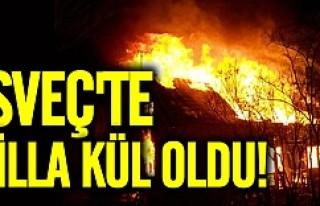İsveç'te alevler evi küle döndürdü
