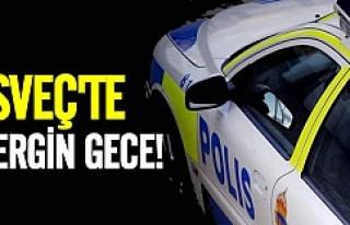 İsveç'te büyük gerginlik polise yumruk!