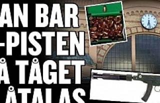 İsveç'te çantasında bu silahla yakalandı