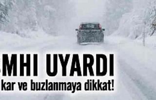 İsveç'te kar ve buz uyarısı!