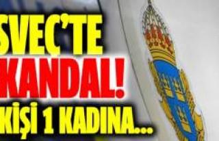 İsveç'te skandal! 5 kişi 1 kadına...