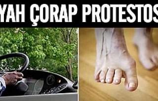 İsveç'te şoförler siyah çorapları protesto...