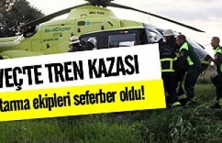 İsveç'te tren kazası!