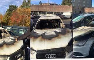 İsveç'te Türk gencinin arabasını yaktılar