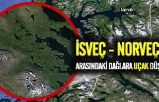 İsveç ve Norveç arasındaki dağlara uçak düştü!