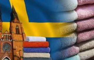 İsveç'in ünlü markaları için logolu havlu...