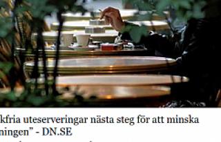 İsveç'te dışarı oturma alanlarında (uteservering)...