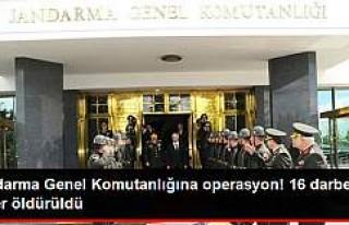 Jandarma Genel Komutanlığı'ndaki Darbeci Askerler...