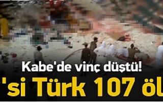 Kabe'de ölü sayısı en az 107!