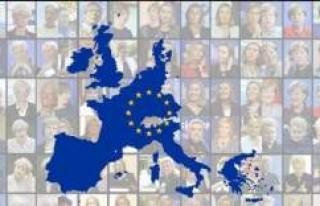 Kadının eli Avrupa'da