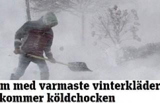 Kar ve Fırtına İsveç'e yeniden geliyor, hemde...