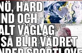 Kış İsveç'e yeniden geliyor...VİDEO