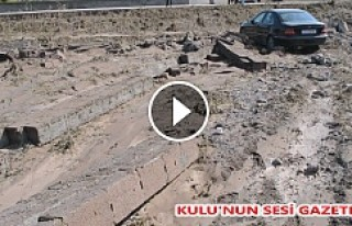Kozanlı'da Sel felaketi