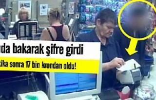 Kredi kartı şifresini kağıda yazdı 17 bin kronu...
