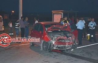 Kulu Dinek Mahallesinde meydana gelen kazada 3 kişi...