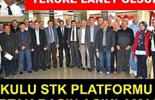 """KULU ve İSVEÇ STK""""lardan Teröre Lanet Bildirisi"""