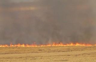 Kulu'da 570 dekarlık anız yanarak kül oldu