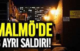 Malmö'de 3 ayrı saldırı!