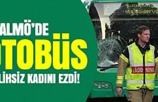 Malmö'de belediye otobüsü talihsiz kadını...