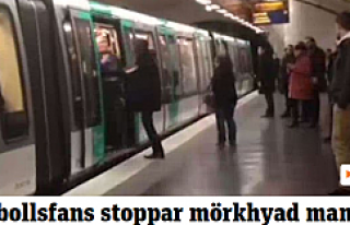 Metro'da ırkçı saldırı...VİDEO