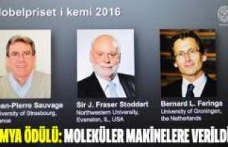 Nobel Kimya Ödülü 'moleküler makineler'e...