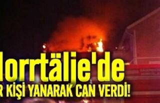 Norrtälje'de bir kişi yanarak can verdi