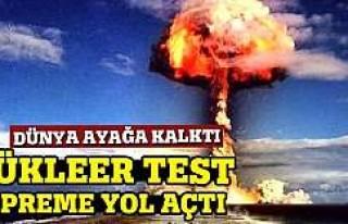 O test depreme yol açtı!