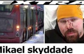 Otobüs şoförüne yardım eden İsveçlinin burun...