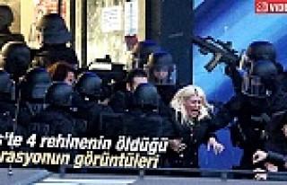 Paris'teki markete yapılan operasyonda çatışmaları...
