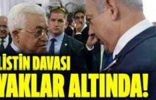 Peres'in cenaze törenine katılan Abbas'a...