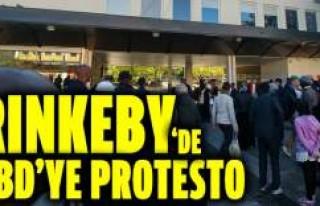 Rinkeby'deki Somalililer ABD'yi Protesto...