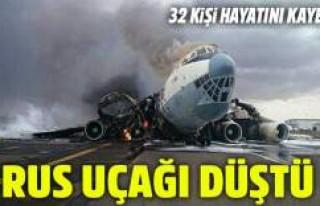 Rus uçağı Suriye'de düştü! Çok sayıda...