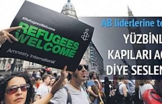 'Sığınmacılara kapıları açın'