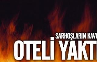 Södertälje'de sarhoşlar oteli ateşe verdi