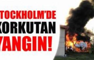 Stocholm endrüstri bölgesinde büyük yangın