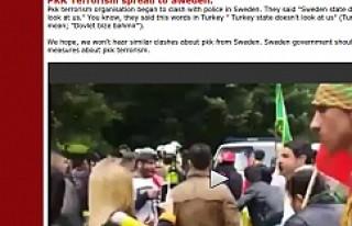 Stockholm'de ki polis, PKK sempatizanları arbedesi...