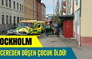 Stockholm'de pencereden düşen çocuk öldü