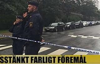 Stockholm Polis Karakolunda şüpheli paket