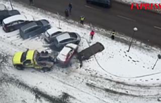 Stockholm'de bir arabaya çarparak kaçan şoför,...