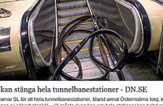 Stockholm'de bütün Metrolar kapanabilir...